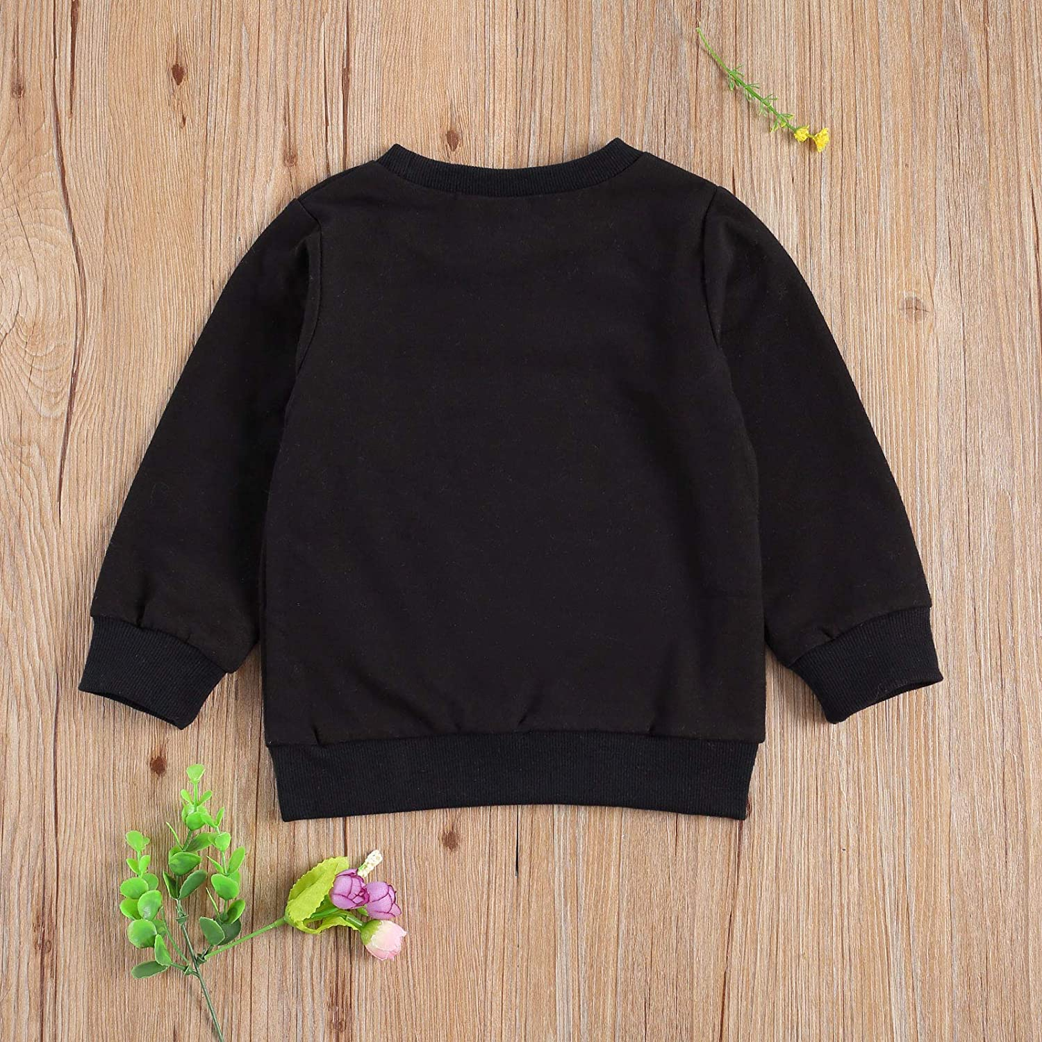 Toddler Baby Boy Girl Sweatshirt Long Sleeve Printed Love You More Tops Fall Winter Pullover Shirts Clothes (Black, 3-4 Years)