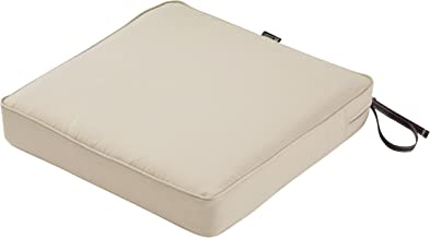 Classic Accessories Montlake Seat Cushion Foam & Slip Cover, Antique Beige, 19x19x3 Thick