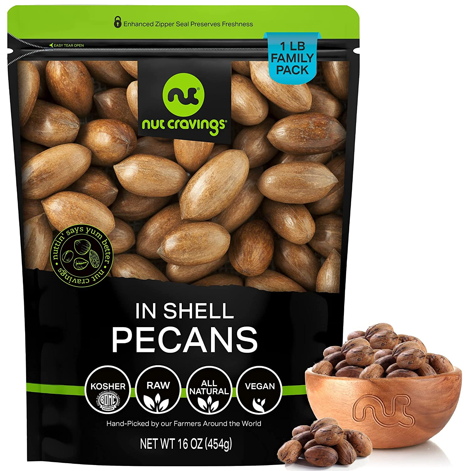 Raw Hard Shell Georgia Pecans Max 61% OFF 16oz - Packed Rese 1 Fresh LB Limited price in