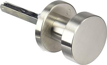 Hoppe deurknop op ronde rozet   cilindervorm   roestvrij staal mat   Fix-knop   1 stuk
