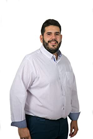 Camisas Hombre Tallas Grandes Manga Larga, Camisas Estampadas, Camisas de Rayas, Camisas de Puntos, Varios Modelos y Colores, 21H