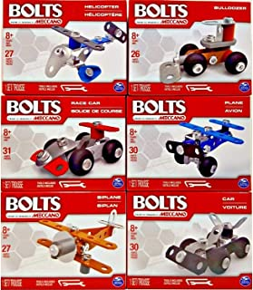 Eclectic Blackbird Bolts Complete Building Kits, 6 Sets STEM Education Toy for Ages 8 & up