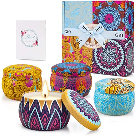 Peppermint Scented Soya Wax Container CandlesChristmas Candle Tins Candle Tin /& Oil Reed Diffuser Gift Set  Brand Sheenashona