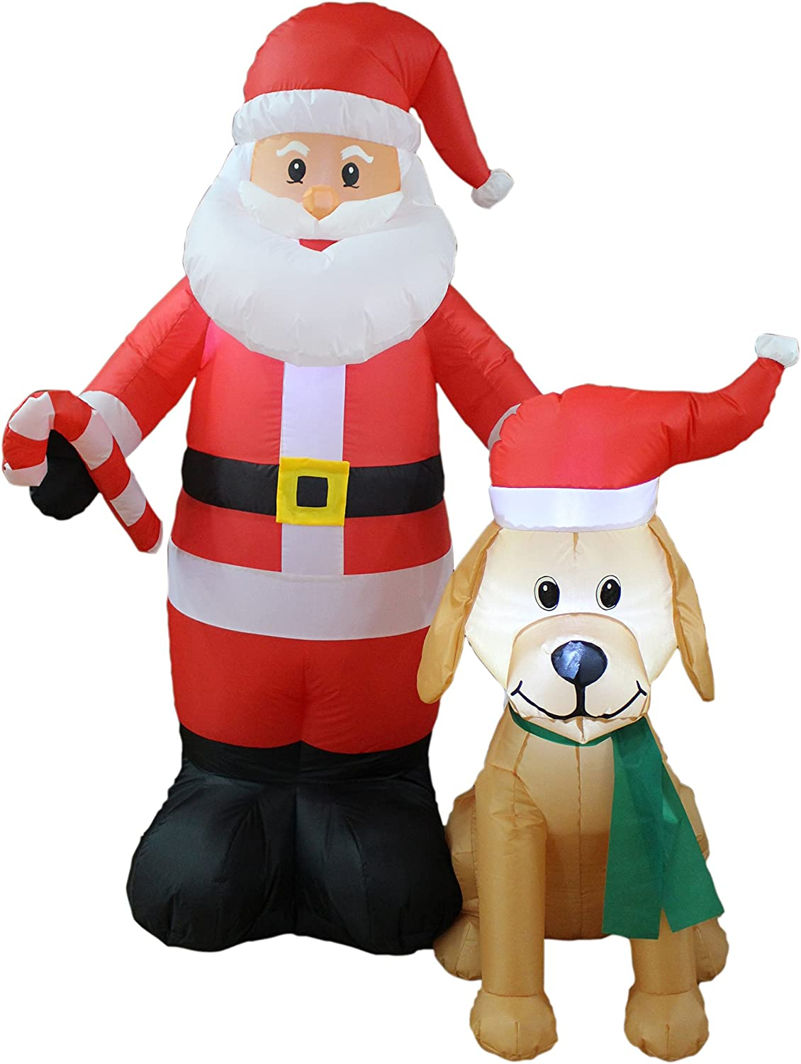 BZB Goods 5 Foot Tall Lighted Claus w Regular discount Christmas Some reservation Inflatable Santa