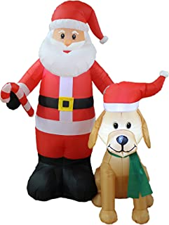 weiner dog christmas inflatable