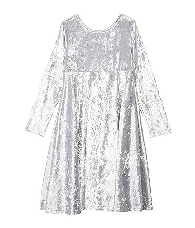 fiveloaves twofish Velvet Emma Dress (Little Kids/Big Kids) (Silver) Girl