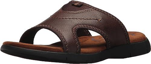 Nunn Bush Men's Rio Grande Slide Sandal, tan, 11 Medium US