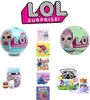 LOL Surprise! Mermaid Ball Mega Bundle - Discontinued LOL Series 1 Mermaid Ball, LOL Surprise Ball Series 2, Shopkins Jar,...