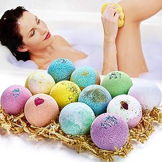 Bath Bombs Gift Set, Organic & Natural Bath Bombs, JOMARTO Handmade Bubble Bath Bomb Gift Set, Perfect for Bubble & Spa Ba...