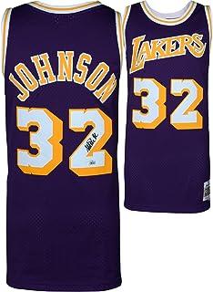 024bae4fa4e Magic Johnson Los Angeles Lakers Autographed Purple Mitchell & Ness  Hardwood Classics Swingman Jersey - Fanatics