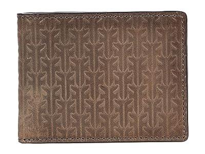 Frye Austin Slim ID Billfold Boxed (Dark Grey) Bags
