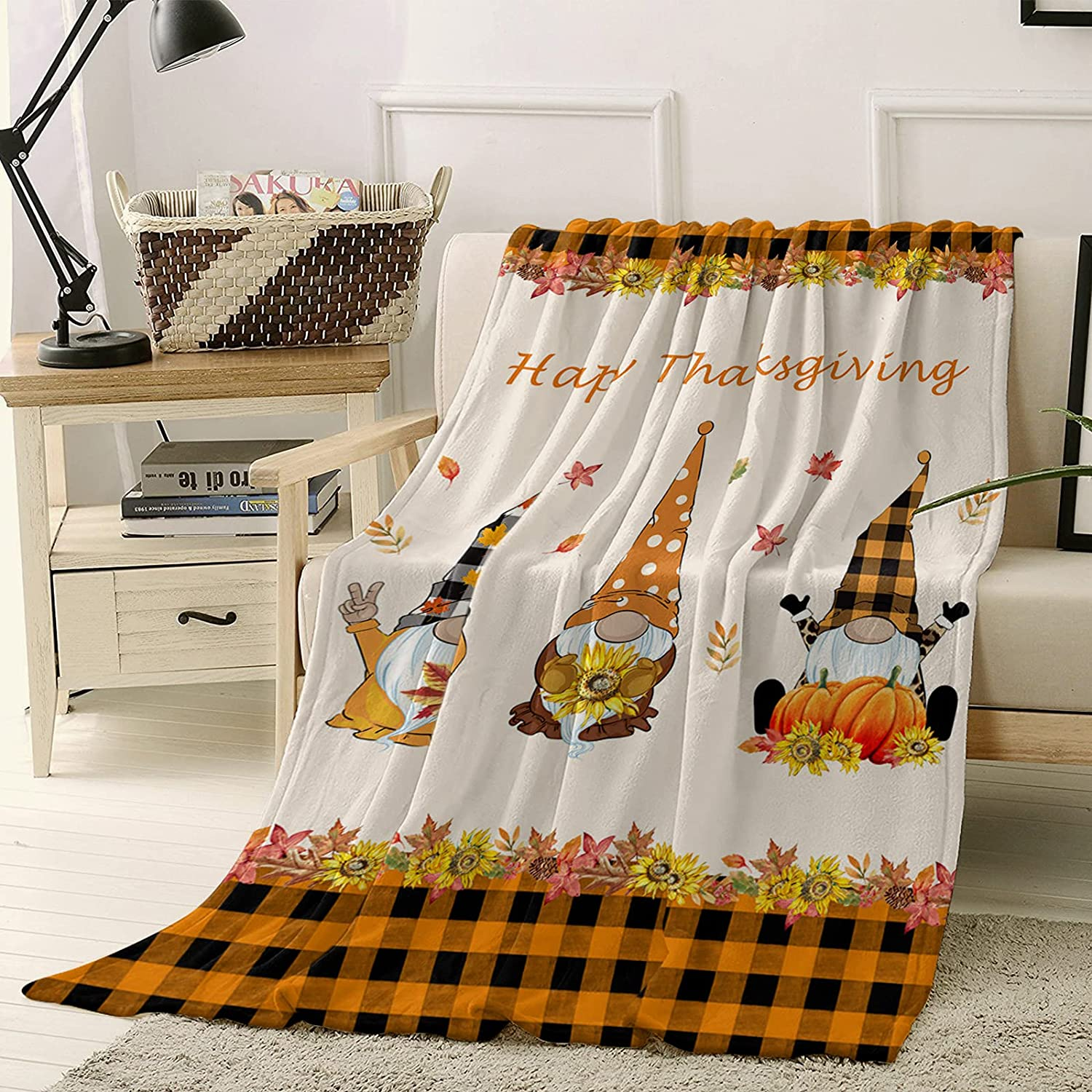 Fuzzy Throw Blanket Grid 40 x 50 Blankets Max Super sale 45% OFF inch for A Bed Fleece