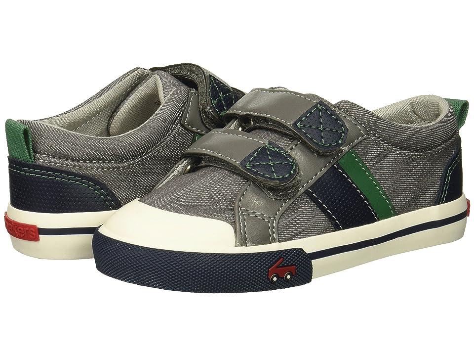 See Kai Run Kids Russell (Toddler/Little Kid) (Gray/Green) Boys Shoes