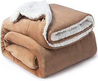 Bedsure Sherpa Fleece Blanket Twin Size Taupe Plush Blanket Fuzzy Soft Blanket Microfiber