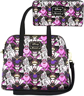 Disney Villains Collage Small Handbag and Wallet Set by Loungefly (Multi)