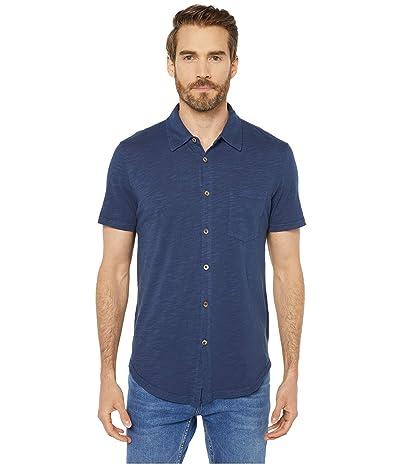 Mod-o-doc Montana Short Sleeve Button Front Shirt (True Navy) Men