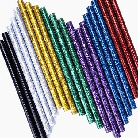 Bâton de colle chaude 10 pièces Noir Retrait Bricolage 7x100mm Pratique