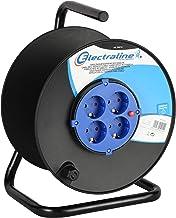 enrollacables de Exterior para Cable el/éctrico y Enchufe Schuko y Italiana Brennenstuhl Garant Tambor de pl/ástico Azul Enrollacables vac/ío con Tomas