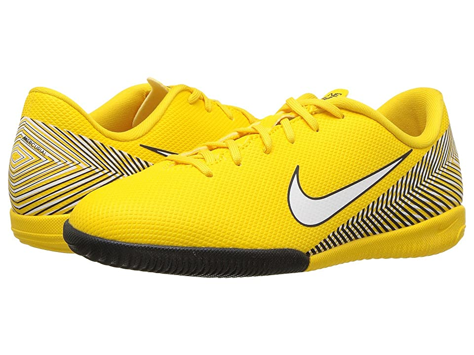Nike Kids Neymar Jr. VaporX 12 Academy IC Soccer (Little Kid/Big Kid) (Amarillo/White/Black) Kids Shoes