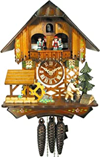 Reloj De Cuco Negro de bosques./Negro Bosque de reloj (Original, certificado), Hogar, Música, de 1de día de, Mecánico, kukus Reloj, kukuks Reloj, kuckuks Reloj