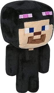 JINX Minecraft Happy Explorer Steve in Enderman Costume Plush Stuffed Toy, Black/Purple, 7