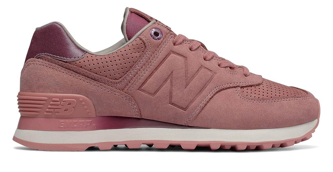 批判的に見出し楽しませる(ニューバランス) New Balance 靴?シューズ レディースライフスタイル 574 NB Grey Dusted Peach ピーチ US 10.5 (27.5cm)