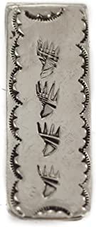 $150 Retail Tag Navajo Bear Paw Authentic Nickel Handmade Made by Charlene Little Native American Money Clip