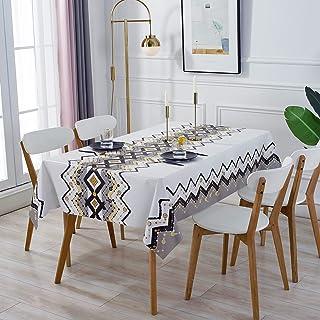 Nappe Rectangulaire Antitache, GuKKK Nappe Imperméable de Table, 140 x 200cm PVC Nappe, Lavable Entretien Facile Nappe, po...