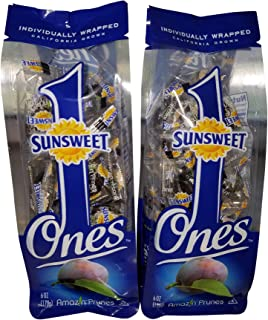 Sunsweet Gold Label Ones Super Select California Individually Wrapped Prunes 6.0 Ounces (Pack of 2)(Packaging May Vary)
