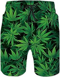 RAISEVERN Men's Swim Trunks Funny Board Short Quick Dry Pants Hawaiian Beachwear w/Pocket