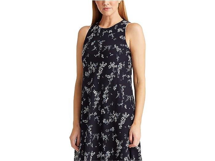 Lauren Ralph Geminah Dress Lighthouse Navy/blue/multi Dresses