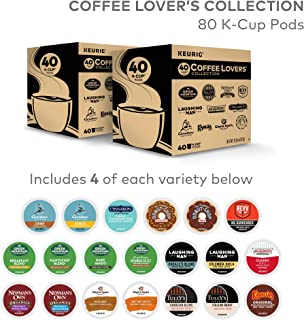 Keurig, Coffee Lovers' Collection Variety Pack, Single-Serve Keurig K-Cup Pods, 80 Count (2 Boxes of 40 Pods)