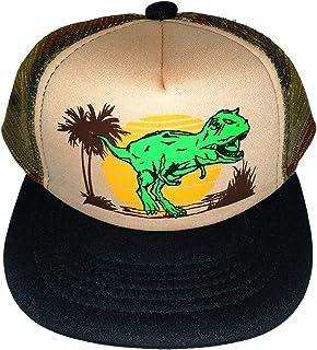 f7dc40daab265 Kids Snapback Dinosaur Dino Mesh Trucker Hat Cap Camo Camouflage Sunset