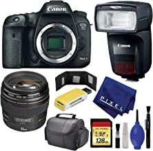 CANON EOS 7D Mark II Body ONLY - Canon EF 85mm f/1.8 USM Lens - 128GB - Card Wallet & Reader - Speedlite 470EX-AI - Case - Cap Keeper