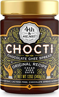 Chocti Chocolate Ghee by 4th and Heart, Grass-fed Lactose-free Cacao Spread, Paleo Frosting, 12 Ounce