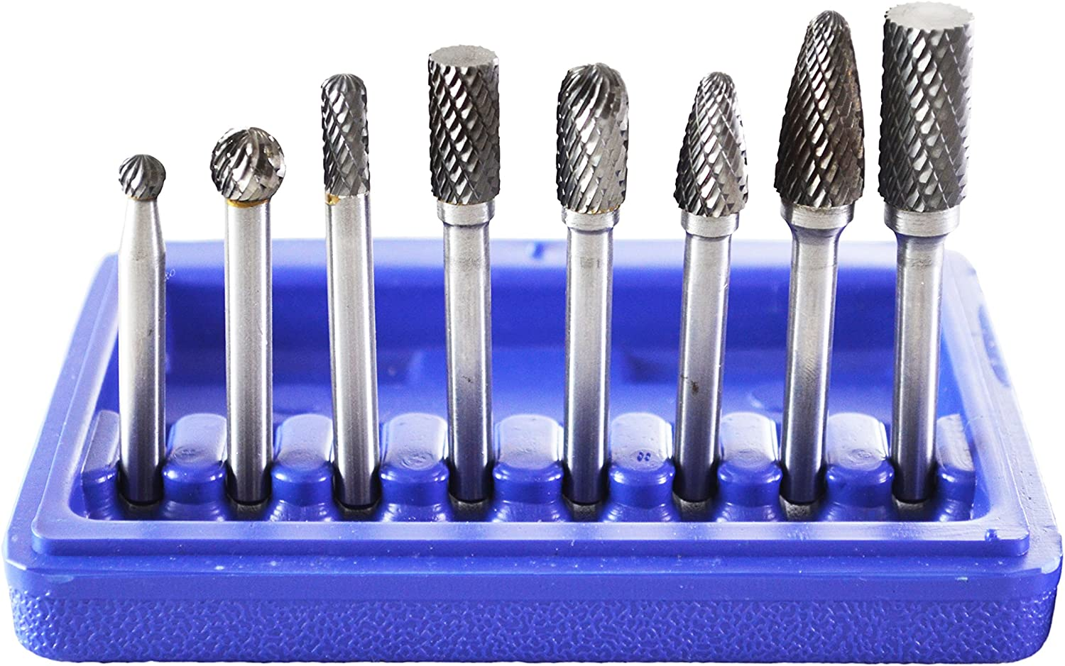 8PCS Tungsten Carbide Burrs Rotary Burr Set Head 1//4/'/' Shank Die Grinder Bit CS