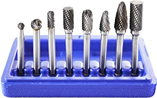 "Astro Pneumatic Tool 2181 8-Piece Double Cut Carbide Rotary Burr Set 1/4"" Shank in.."