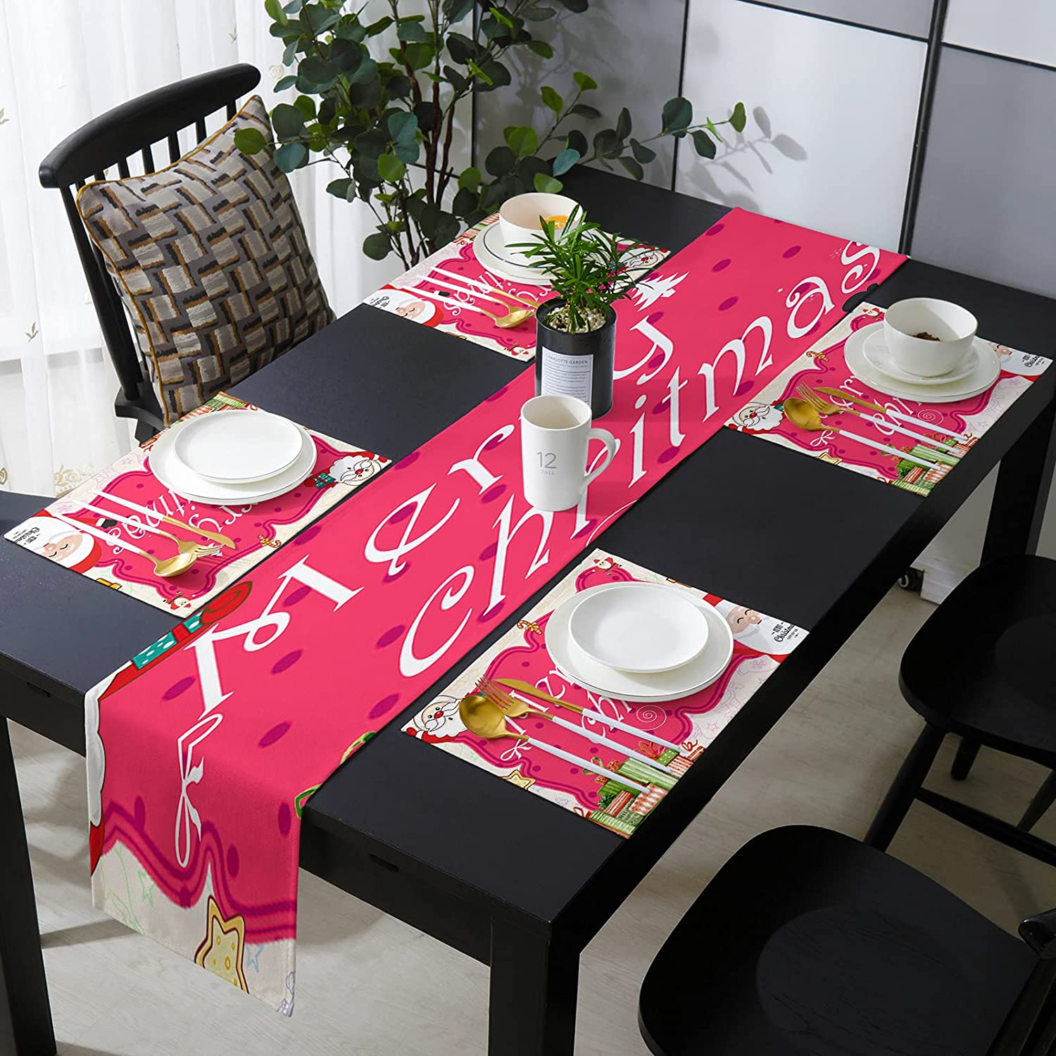 Fantasy Staring 13 x 70 Lowest price challenge Inch Set Placemats Runner with of Ranking TOP7 Table