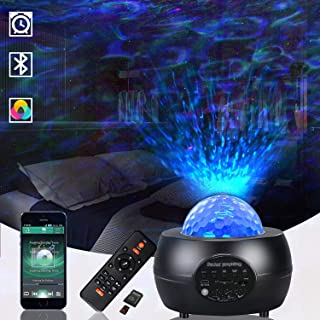 JESLED Star Projector, LED Night Light,3 in 1 Galaxy Light Projector Lamp for Bedroom Ceiling Ambience/Room/Party/Home Dec...