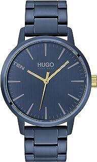 ساعة بمينا ازرق وسوار ستانلس ستيل مطلي ايونيًا بلون ازرق داكن للرجال من هوغوبوس - 1530141