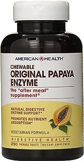 American Health Chewable Multi-Enzymes, Original Papaya, 250 Count