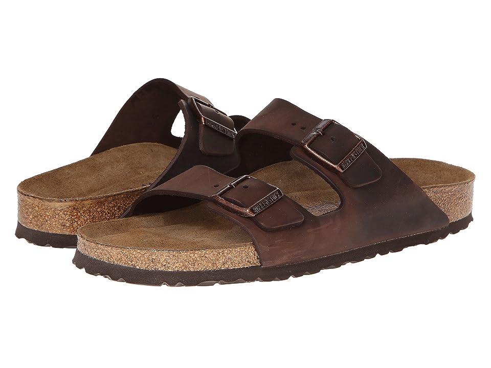 Birkenstock Arizona Soft Footbed - Leather (Unisex) (Habana) Sandals