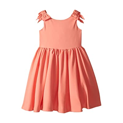 Janie and Jack Special Occasion Bow Sleeve Dress (Toddler/Little Kids/Big Kids) (Coral) Girl