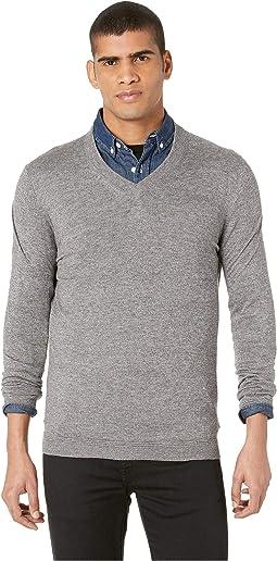 Noel Long Sleeve Cashmere Blend V-Neck Sweater