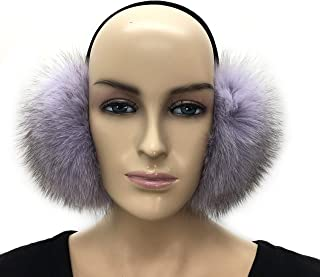 100% Real Fox Fur Winter Earmuff, Made in US