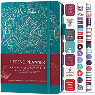 Legend Planner - Deluxe Weekly & Monthly Life Planner to Hit Your Goals & Live Happier. Organizer Notebook & Productivity ...