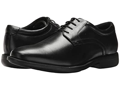 Nunn Bush Devine Plain Toe Oxford with KORE Walking Comfort Technology (Black) Men