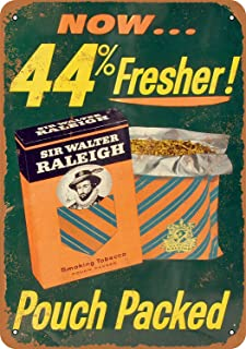 Classical tin Sign,Sir Walter Raleigh Smoking Tobacco,Vintage Metal Tin Sign Poster Pub Bar 8 x 12 inches