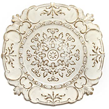 Amazon Com Stratton Home Decor White European Medallion Wall Decor 30 50 W X 0 50 D X 30 50 H Home Kitchen