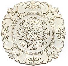 Stratton Home Decor White European Medallion Wall Decor, 30.50 W X 0.50 D X 30.50 H
